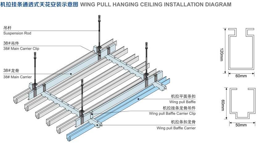 异形吊顶框架示意图